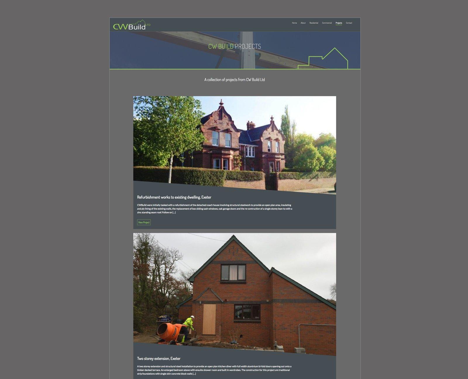 CW Build Branding, Logo Design and Web Design project - Four